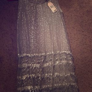 MSSP XS Silver Sequin 1920's Flapper Dress